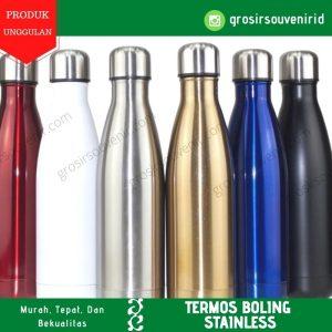 Botol termos bowling 500ML steinless merah putih silver gold biru hitam