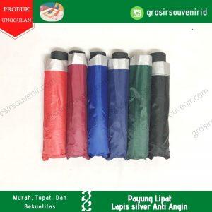 payung lipat 3 anti angin umbrella threefold warna warni lapis silver grc sakura nagoya