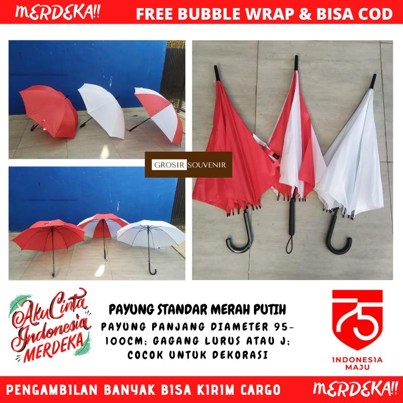 payung standar merah putih indonesia merdeka